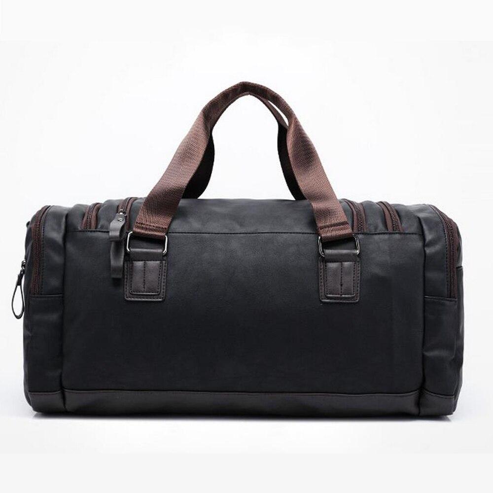 New high qual PU leather travel bag Men duffel bag large capacity bags with shoulder Strap shoulder bag leahter Handbag for Male 5