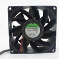 Оригинальный охлаждающий вентилятор для Sunon  3 провода  конвертер  90*90*38 мм  постоянный ток 24 В 9 6 Вт