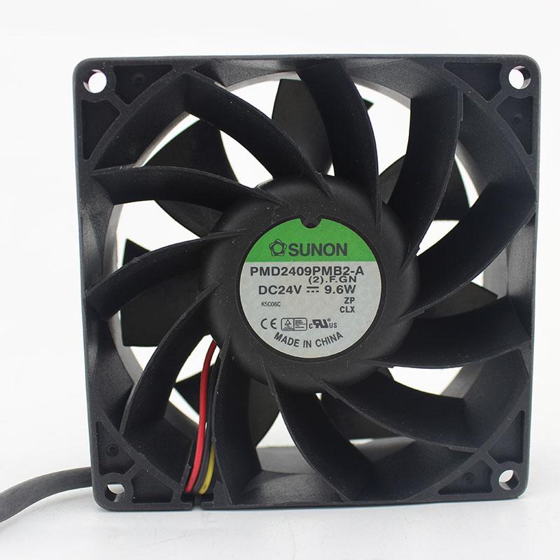 Original SUNON PMD2409PMB2-A 90*90*38mm DC 24V 9.6W 3 Wire Converter Cooling Fan