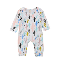 ddc416dd95076 Newborn Baby Boy Girl Rompers Infant Baby Girl Cactus Romper Jumpsuit New  Arrival One Piece Clothing