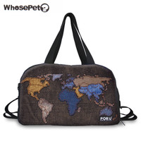 Wholesale 3D Map Travel Bag Canvas Men Womens Travel Duffle Bags Ladies Handbag Baggage Bags Shoulder Bags For Girls WHOSEPET