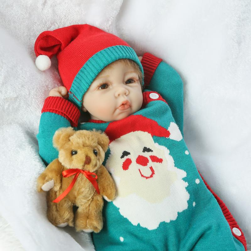 45CM Silicone Baby Dolls Reborn Babies Bonecas Soft Toys for Girls Gift,15 Inch Baby Alive Newborn Toys for Children Juguetes 18 inch vinyl reborn doll kids playmate gift for girls 45 cm baby alive soft toys for children lifelike reborn babies dolls