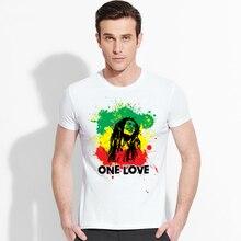 hip hop Marley T-shirts printed rock t shirt men Funny Short Sleeve novel one love Tshirts 2016 New Fashion Summer Style