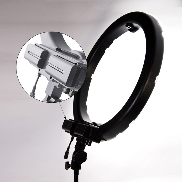 New Hot selling Bi-color18 Inch Photography Lighting Set Camera Photo Studio Video Phone LED Ring Light With Holder Stand @JH