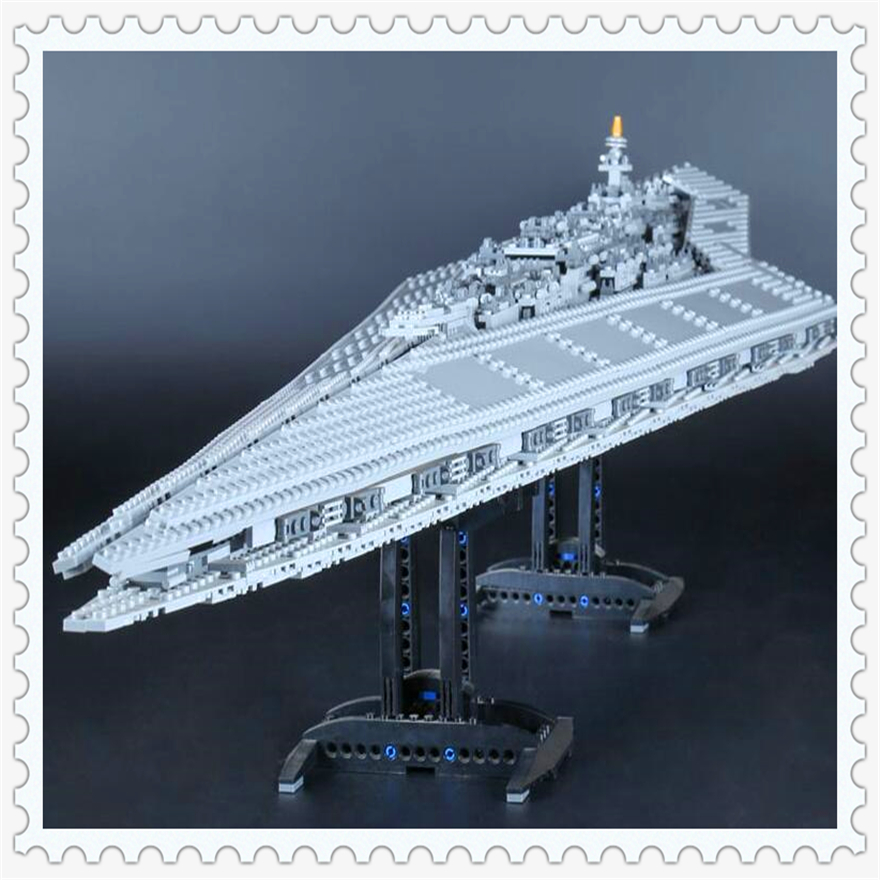 3208Pcs Execytor Super Star Destroyer Model Building Block Toys LEPIN 05028 Figure Gift For Children Compatible Legoe 10221 lepin 05028 3208pcs star wars building blocks imperial star destroyer model action bricks toys compatible legoed 75055