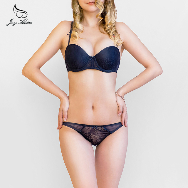 Joy Alice Push Up Padded Lace Bra & Brief Sets