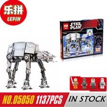 NOWY Lepin 05050 Star War Series AT-AT Robota Pilot Elektryczny Building Blocks Zabawki 1137 sztuk Kompatybilny Chłopców Zabawki prezent