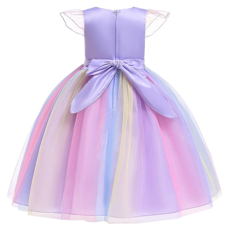 HTB1md9eacnrK1RjSspkq6yuvXXaX Unicorn Dresses For Elsa Costume Carnival Christmas Kids Dresses For Girls Birthday Princess Dress Children Party Dress fantasia