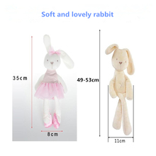 2017 cute baby kids animal rabbit soft plush 35x 8cm toy  kawaii obedient sleeping Bunny doll gift