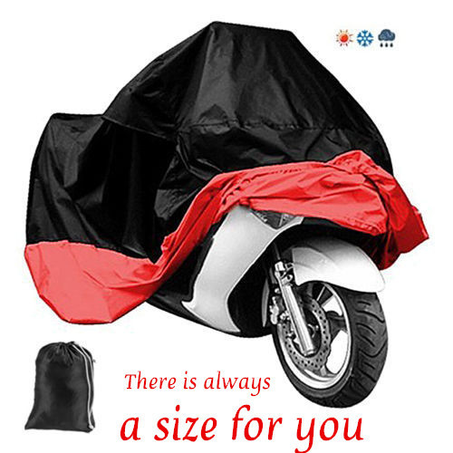 Todo el tamaño impermeable y transpirable motocicleta cubiertas exterior motocicleta Scooter lluvia UV capa protectora que cubre la funda para toda la motocicleta