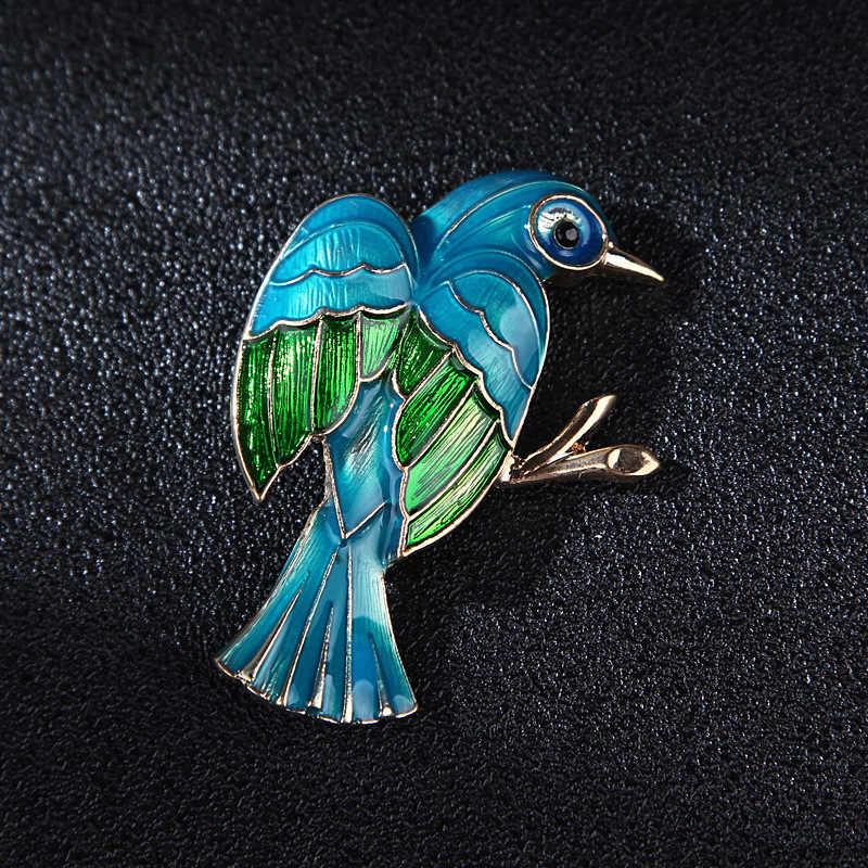Mimpi Permen Baru Biru Enamel Burung Bros untuk Wanita Fashion Hewan Bros Pin Pria Perhiasan Aksesoris Kreatif Hadiah 2019