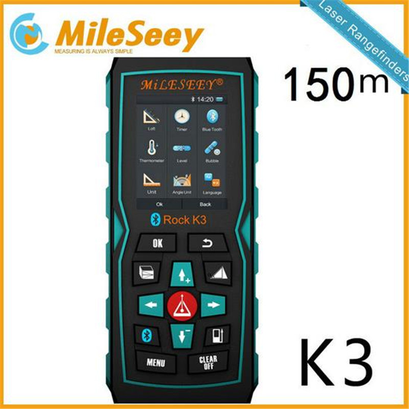 цена на DHL free shipping Mileseey K3 150M /200M Laser Distance Meter Laser Range Finder Distance Measure Blue DHL free shipping