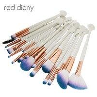 20Pcs Makeup Brushes Set Comestic Powder Foundation Blush Eye Shadow Eyeliner Lip Beauty Shell Make Up