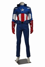 Marvel's The Avengers Captain America Steve Rogers Cosplay Costume Superhero Mens Outfit Customized Outfit Custom Made Halloween