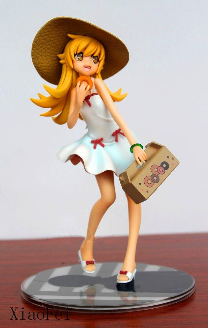 ФОТО Anime Figure Toy Kotobukiya Story Oshino Shinobu Hat dress Doll Model Christmas Child Gift Original Package