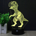 HY No.91-105 Remote Control 7 Colors Changing Night Lights 3D LED Desk Table Lamp Home Decoration For Gifts