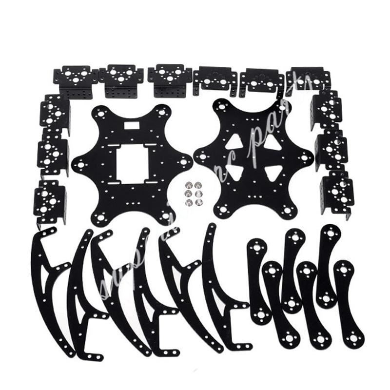 18 DOF Aluminium Hexapod Spinne Sechs 3DOF Beine Robot Rahmen Kit ...