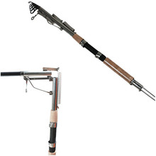 1x Automatic Fishing Rod 2.1/2.4/2.7/3.0m High Strength Telescopic Carbon Fiber Fishing Pole with Holder for Sea River Fishing