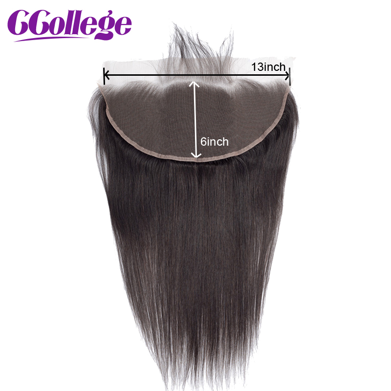 13*6 Lace Frontal Closure With Baby Hair Brazilian Straigh Remy 100% Human Hair Lace Frontal Closure Perruque Cheveux Humain(China)