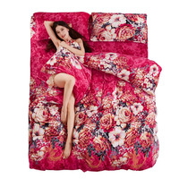 Boutique Warm Flannel Bedding Sets New Twin Full King Queen Size Bedding Sets Soft Flower Cartoon