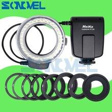 Кольцевая вспышка Meike FC 100 FC100 LED для макросъемки для Nikon D4s D5 D3x D500 D600 D800 D810 D750 D3200 D3400 D5600 D5300 D7500 D7200