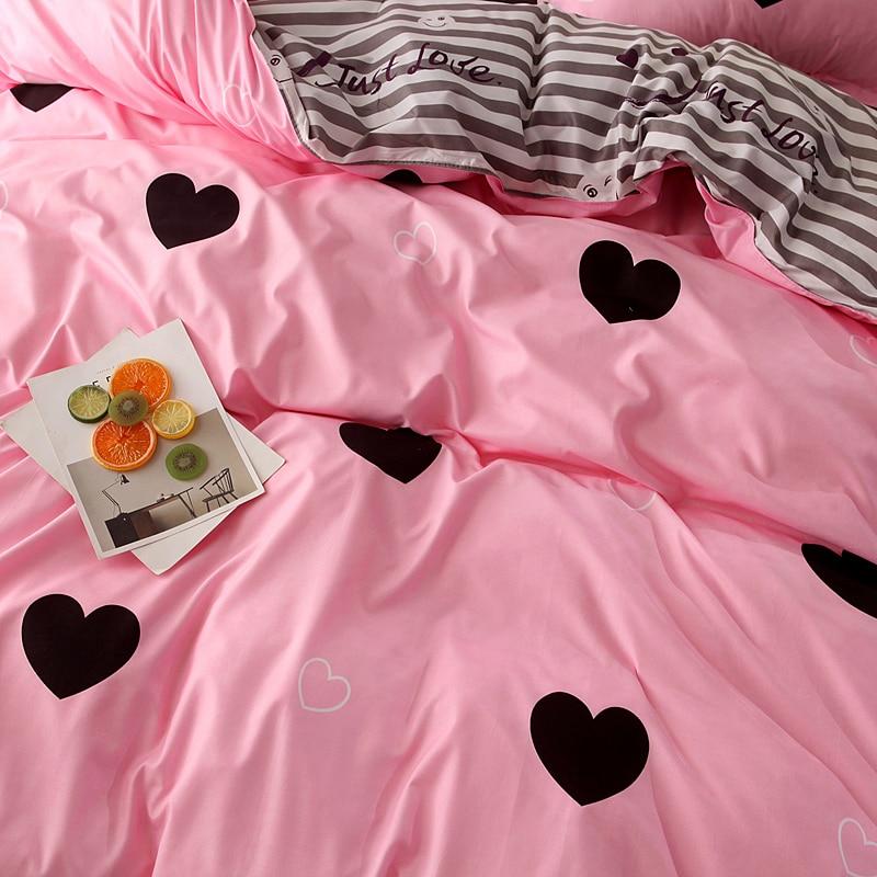 Bonenjoy cor-de-rosa coração impresso conjunto de roupa