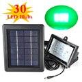IP54 A Prueba de agua de Inundación del LED Lámpara Solar Del Jardín Del Reflector Brillante Estupendo 30 Led Verde Luz de Iluminación con el Medio Ambiente