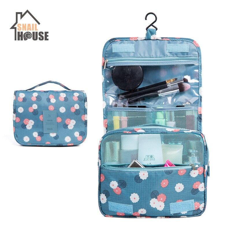 Snailhouse Korean Version Hook Wash Bag Printed Travel Accessories Bags Oxford Cloth Cosmetics Storage Bags Home Organizers