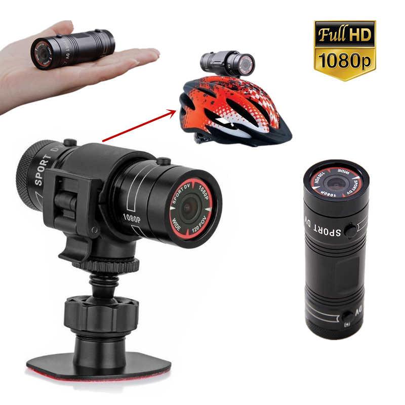 ホット販売ミニ F9 バイクカメラ Hd バイクオートバイヘルメットスポーツアクションカメラビデオ DV ビデオカメラフル HD 1080 p 車のビデオレコーダー