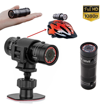 Купить с кэшбэком Hot sales Mini F9 Bike Camera HD Bike Motorcycle Helmet Sports Action Camera Video DV Camcorder Full HD 1080p Car Video Recorder