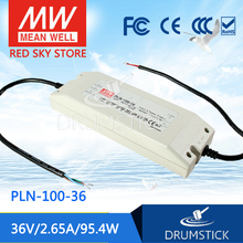 цена на Hot! MEAN WELL original PLN-100-36 36V 2.65A meanwell PLN-100 36V 95.4W Single Output Switching Power Supply