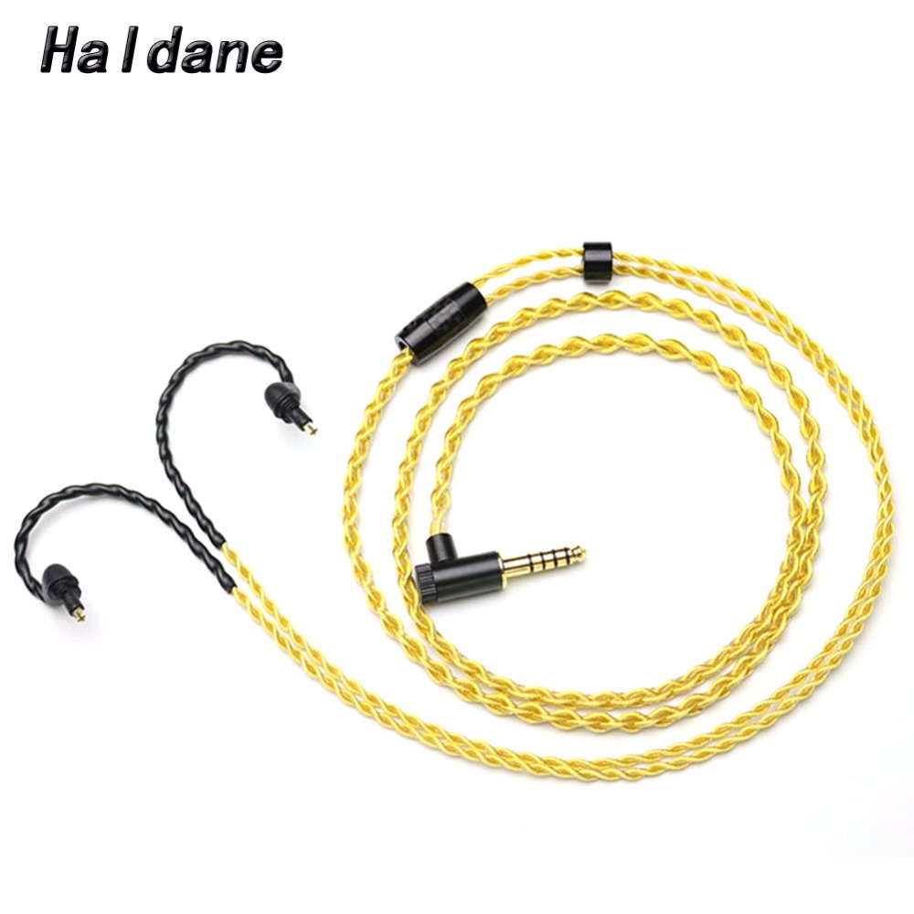 Free Shipping Haldane 1.2Meter 2.5/3.5/4.4mm Balanced Headphone Upgrade Cable for EX600 EX800 EX1000 EXK MDR7550