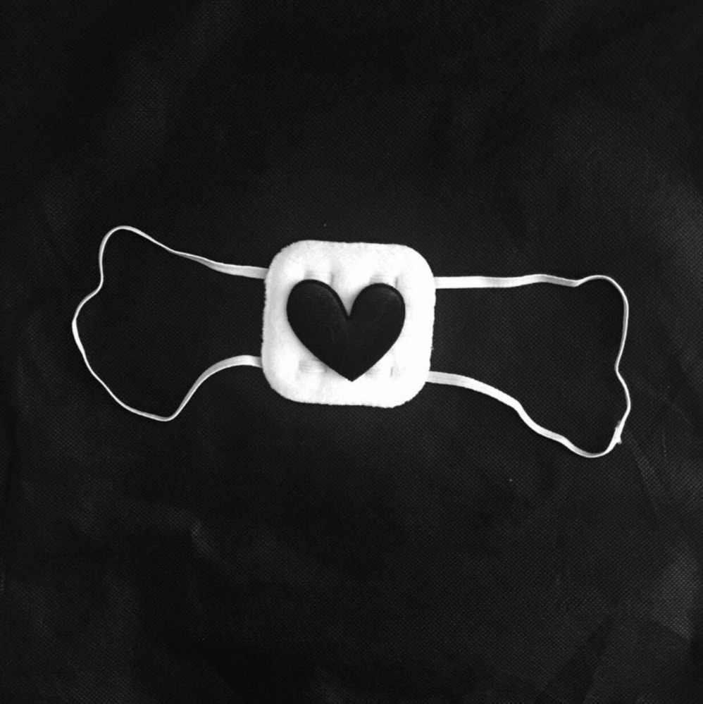 ญี่ปุ่น Creepy หัวใจสีดำนุ่มผู้หญิง Eyepatch Handmade สาว Harajuku Eye Patch