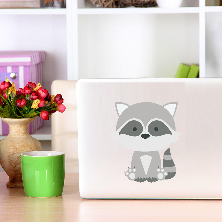 Jungle Animals bear Laptop Stickers for kids computer decals lovely funny Car Bumper Vinyl Wall Art childrens gift