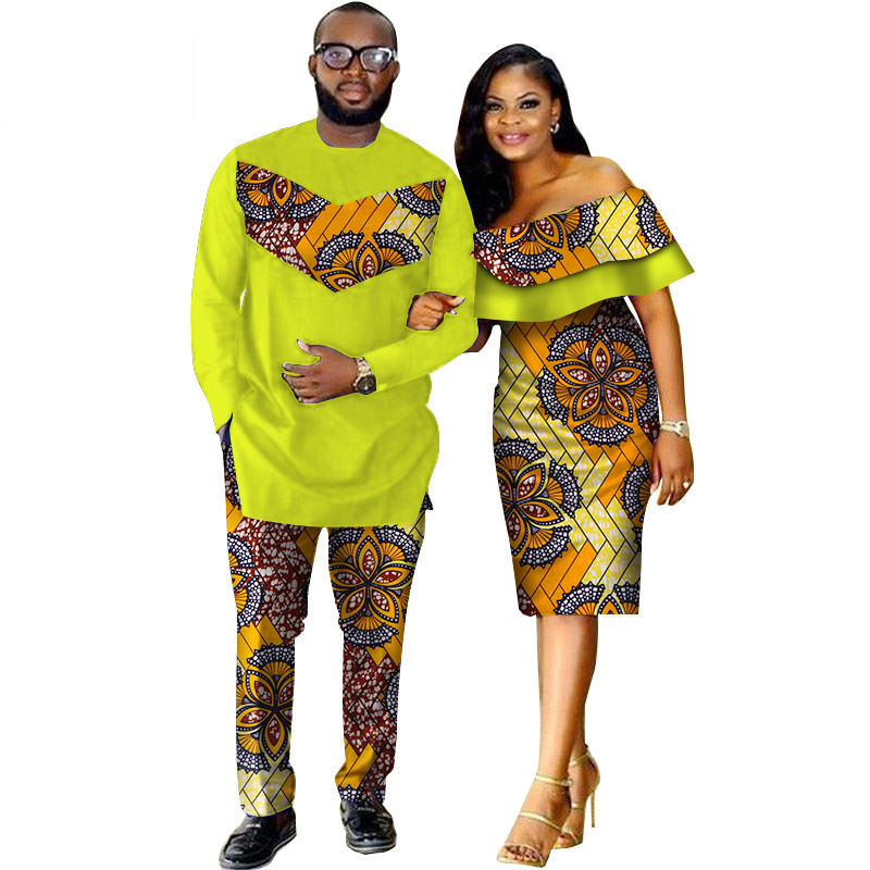 African-Dashiki-Print-Couple-Clothing-for-Lovers-Two-Piece-Set-Men-s-Suit-Plus-Women-s(14)
