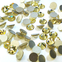 Hot Top Quality Jonquil Color All Size Shinning 1 Bag Non Hotfix Rhinestones Flatback Gems 3D Nail Bags Accessories Decorations цены