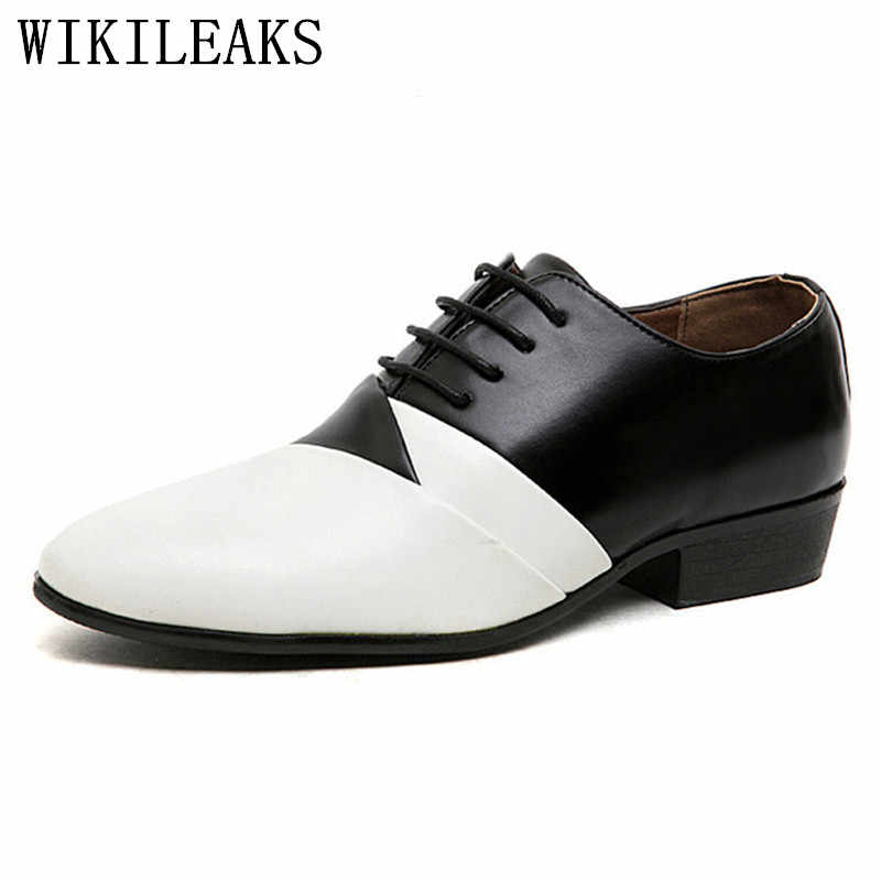 2019 designer wedding shoes man leather white oxford shoes for men formal mariage mens pointed toe dress shoes sapatos masculino