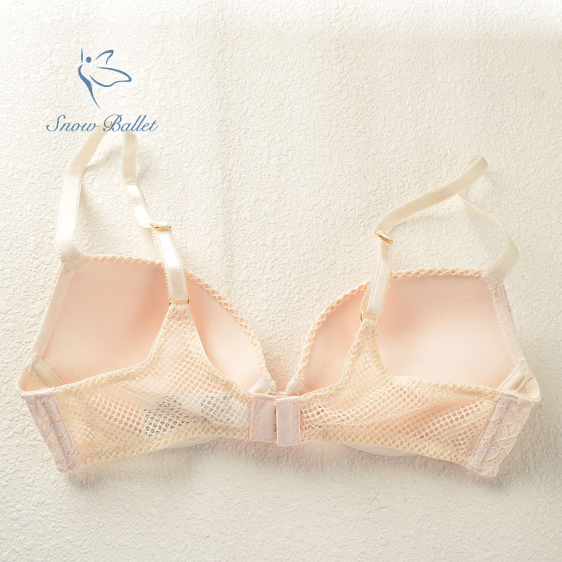 6e03a38d0e sexy lingerie young lady cream lace 3 4 cup push up bra women underwear  intimates floral back 70B 75B 80B free shipping-in Bras from Underwear    Sleepwears ...