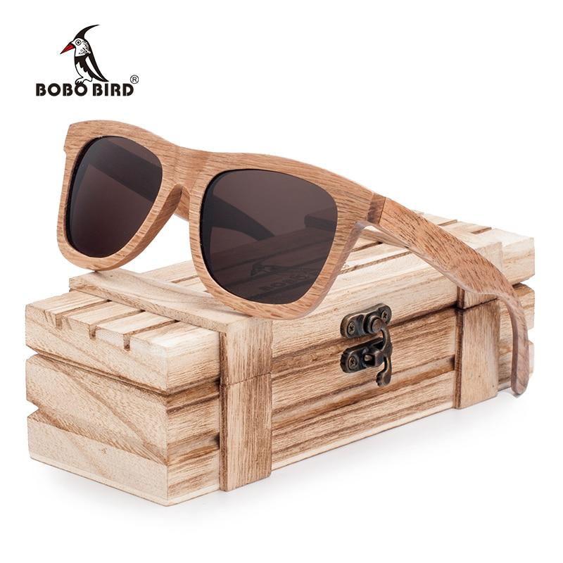 BOBO BIRD Polarized Men s Brand Mirror Eyewear Women Handmade Original Wooden Sunglasses for Friends as