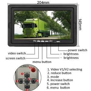 GreenYi автомобиля HD 800x480 7 дюймов Цвет на тонкопленочных транзисторах на тонкоплёночных транзисторах ЖК-дисплей Экран заднего вида Дисплей мониторы для грузовик шины с ИК-пульт дистанционного управления Управление