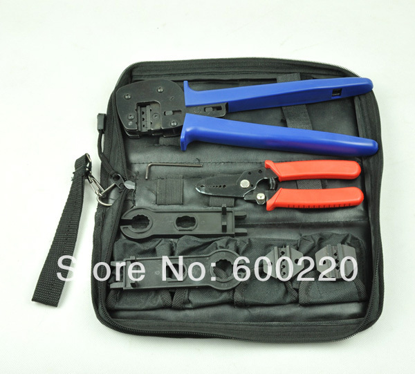 High quality A-K2546B Solar Panel Tool Kit, PV Tool set MC4 crimping tool set wholesale solar panel tool kit ly k2546b 1 pv tool set mc4 crimping tool set only including mc3 crimping die set mc4 mc3 crimping tool