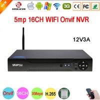 5mp/4mp/3mp/2mp/1mp IP Camera Hi3536D XMeye 1CH RCA Audio output H.265 5mp 16CH 16 Channel Onvif IP WIFI CCTV NVR Free Shipping