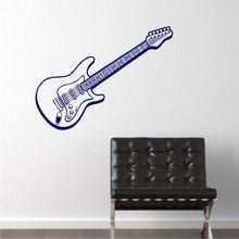 Música Diseño de Arte Etiqueta de La Pared de la Guitarra Eléctrica Hermosa Tatuajes de Pared Mural Hogar Decorativos Adhesivos de Pared de Dormitorio Arte Especial M-48