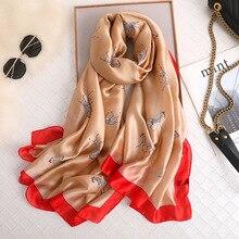 2019 Luxury silk scarf for women designer horse print foulard female beach scarfs bandana lady scarves shawl