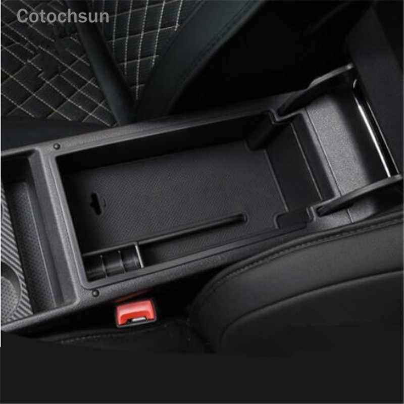 ba0fe10cb4e ... Cotochsun Car armrest storage box Glove box tray storage box case For  Skoda Octavia A7  ...