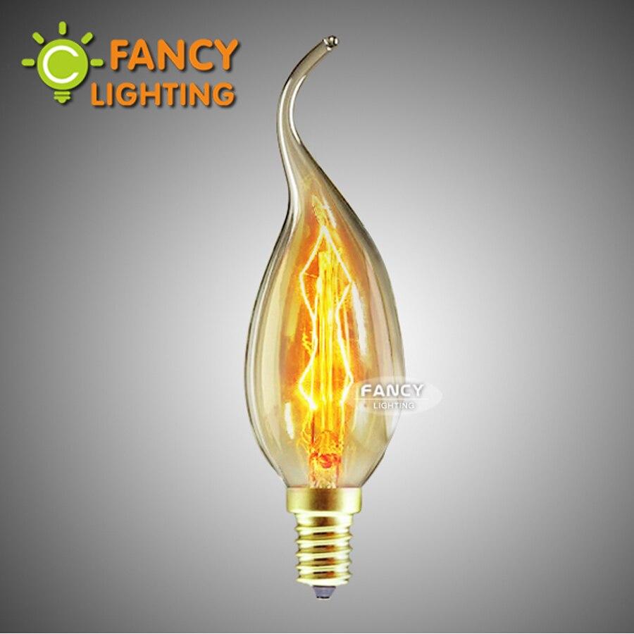 E14 Edison Bulb C35-L Incandescent Bulb 220V Candle Bulb For Home/bedroom/dining Room/chandelier Decor 40W Lampada Filamento