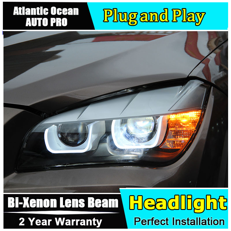 Car Styling Head Lamp for BMW E84 X1 led headlights 2009 2014 E84 head lamps double