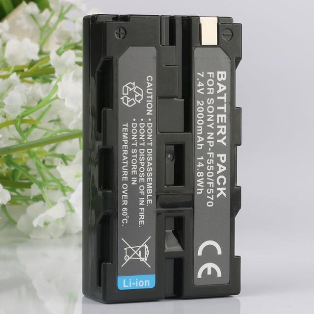 LANFULANG NP-F550 NP F550 Replacement Li-ion Battery for Sony NP-F330 NP-F530 NP-F55 NP-F560 NP-F570 NP-710 NP-720 NP-730