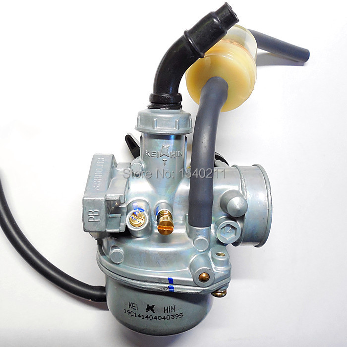 KEIHIN 19mm carbs PZ19 Manual throttle <font><b>Carburetor</b></font> Hand Choke <font><b>50cc</b></font> 70cc 90cc 110cc Dirt bike ATV Quad <font><b>GY6</b></font> Motorcycle <font><b>Carburetor</b></font> image