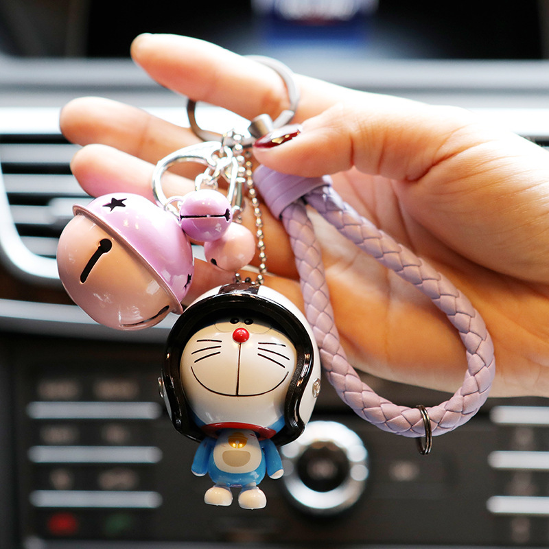 Image 2 - Marvel Avengers Captain America Key Holder Figure Marvel Doraemon Keychain Kids Toy Leather Rope Ring-in Key Rings from Automobiles & Motorcycles